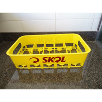 Caixa Engradado Cerveja Skol Para Garrafas 300 Ml(15 Vasilh