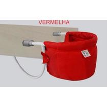 Cadeira De Alimentação Dobrável P/ Bebê Cadeirinha Vermelha