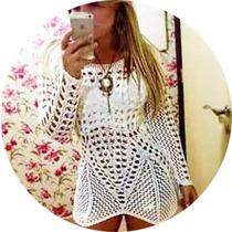 Bata Roupas Femininas Em Tricot Crochê Em Renda Não Guippir