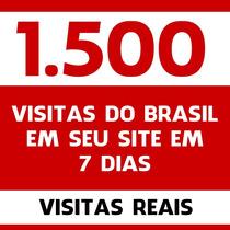 1500 Mil Visitas Brasil Site Tráfego 100% Real