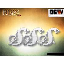 Inlay Snakebyte Metallica Esp Acrilico 2mm Marcacao Escala