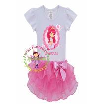 Vestido Fantasia Roupa Aniversário Luxo Princesa Moranguinho