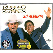 Rionegro E Solimões Cd Single Só Alegria - Raro
