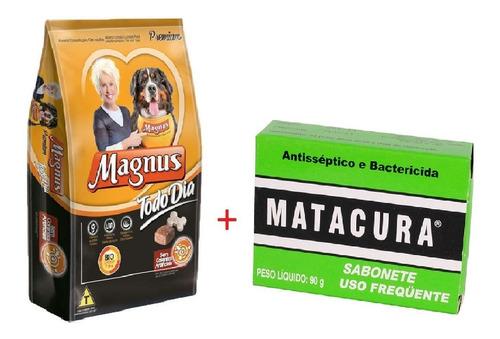 Ração Magnus Todo Dia Premium 25kg + Sabonte Antisséptico