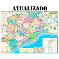 Mapa Grande São Paulo E Baixada Santista Político Rodoviário