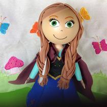 Boneca Princesa Anna Frozen Em Eva 3d