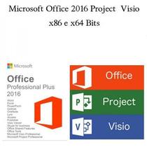 Pacote Office 2016 Plus Original + Project E Visio
