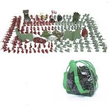 Kit De Mini Soldados De Plástico Guerra + Mochila 238 Peças