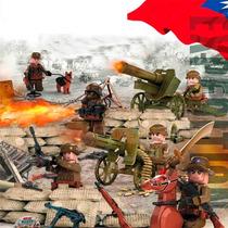 Soldados Exercito Guerra Mundial Canhão Armas Acessórios