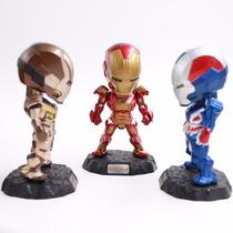 Action Figure Homem De Ferro Iron Man Led Coleção 3 Pçs