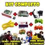Kit Fliperama + 12 Mil Jogos + Filmes + Tv 4 Controles  Novo