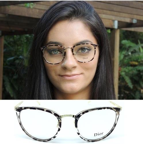c4783e183 Óculos Feminino Grau Foto Armação Moda Gato Barato Promoção
