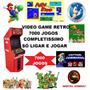 Kit Video Game Multijogos Recalbox Raspberry Pi3 Retro 64gb