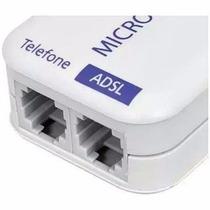 Micro Filtro Adsl Duplo Telefone Rj11 Roteador Banda Larga