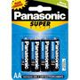 Pilha Panasonic Aa Pequena Com 4 Unidades