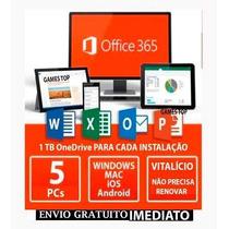 Office 365 Vitalício Office 2018 - Original 5pcs/mac