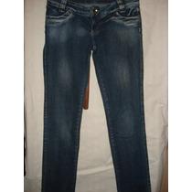Calça Jeans Da Sawary C/ Elastano E Strass Tam 42
