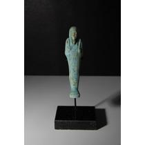 Autêntico Ushabti Egípcio De Faiança (664 A 332 A.c.) - 01