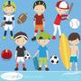 Kit Digital Imagens Png Esporte Jogadores Clipart 1