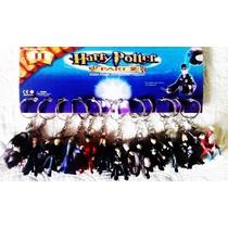 Kit 12 Chaveiros Bonecos Harry Potter 4,5cm Coleção Completa