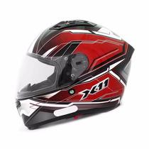 Capacete Moto X11 Impulse Com Viseira Solar Vermelho Tam 64