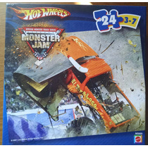 Quebra-cabeças Mattel Hot Wheels - Monster Jam - 24 Peças
