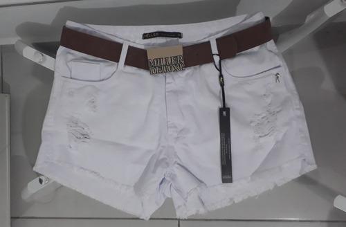 cda2d1eb8 Short Miller Jeans Deluxe Original Tam. 44 No Branco