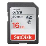 Cartão De Memória Sandisk Sdsdunc-016g-gn6in Ultra 16gb