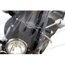 Parabrisa Bolha Universal Para Moto Cristal / Fume Exclusivo