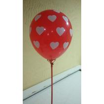 Balão/bexiga Coração Nº 10 - 25 Unid.