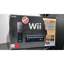 Nintendo Wii Black Na Caixa + Super Smash Bros Brawl - Usado
