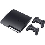 Playstation 3 Ps3 Slim Play3 +2 Controles + Gta 5 + 39 Jogos