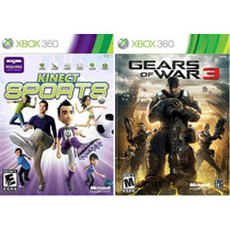 2 Jogos Xbox360 Original Kinect Sports + Gears Of War 3