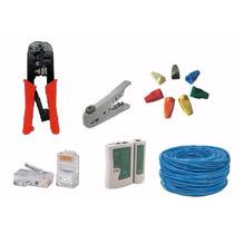 Kit Instalação Rede Com Cabos/ferramentas/conectores