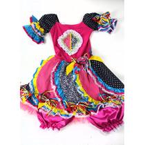 Vestido Junino Infantil Dani - Tamanho 12 Anos