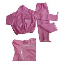 Capa De Chuva Feminina Rosa - 100% Impermeável Piraval P