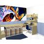 Papel De Parede Decoração Quarto Sonic Painel 3m2