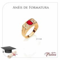 Rommanel Anel Formatura F. Ouro 18k Masculino Joia 511168
