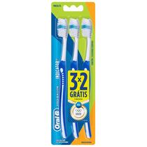 3 Escovas Dentais Oral-b Indicator Plus Macia 35