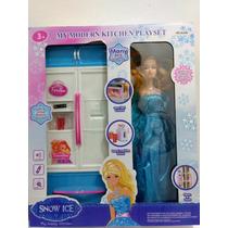 Kit Frozen Com Geladeira Boneca Frozen Menor Preço Promoção