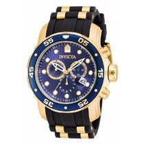 Relogio Invicta 17882 Chronograph Blue Dial Black Pro Diver
