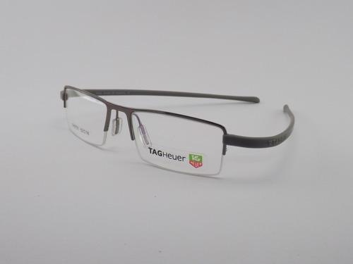 cf779f1ad78e8 Armação Para Óculos De Grau Tag Heuer Cinza Flex