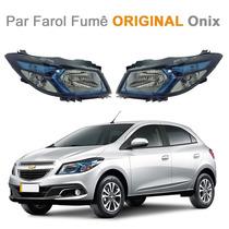 Par Farol Onix Modelo Ice Blue 2013 14 Original Chevrolet Gm