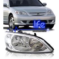 Farol Honda Civic 2004 2005 2006 Modelo Original Foco Duplo
