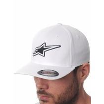Boné Alpinestars Corporate Branco 100% Original Flexfit S/m
