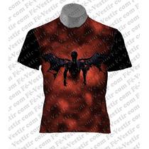 Camiseta Orixá - Exu - Morcego - Rock
