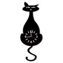 Relógio De Parede Decorativo Gato Com Movimento 40cm (11563)