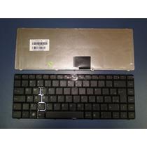Teclado Itautec W7440 W7445 V111305ak3 Original Com Moldura