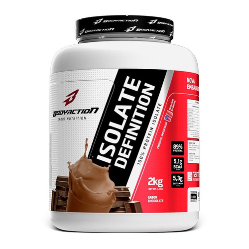 800d40c0b Whey Isolado Isolate Definition 2kg Sabores - Body Action. R  188.83