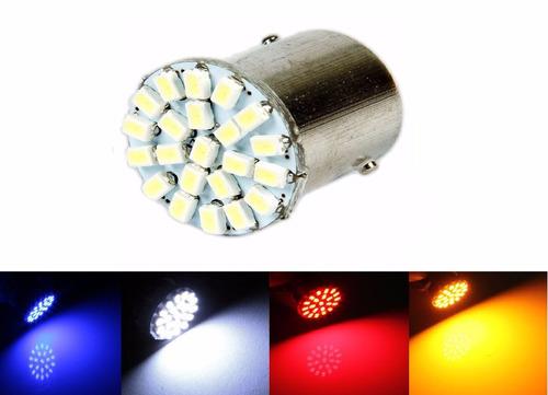 Lampada 22 Led Ba15s 1 Polo Varias Cores P21w 1156 Unidade